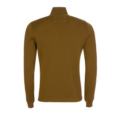 Green 1/4 Zip Wool Jumper