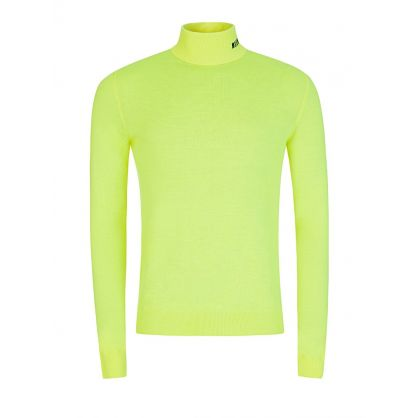 Fluorescent Yellow Roll Neck Jumper