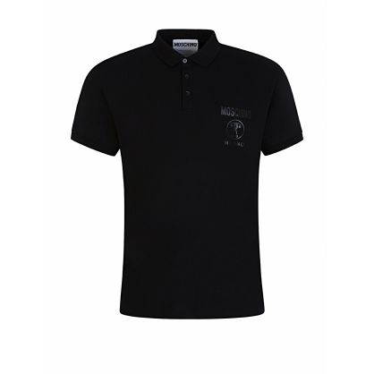 Black Milano Logo Polo Shirt
