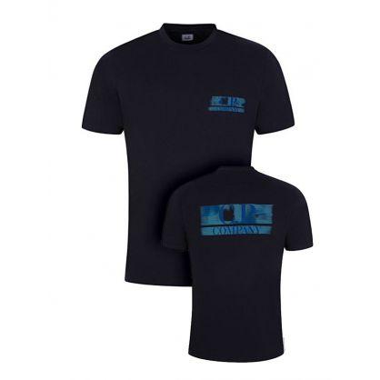 Navy Blur Logo T-Shirt