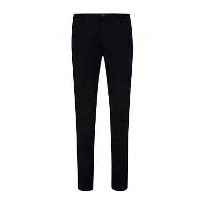 Navy Slim Fit Rice Trousers