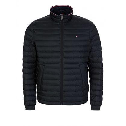 Black Packable Down Filled Jacket