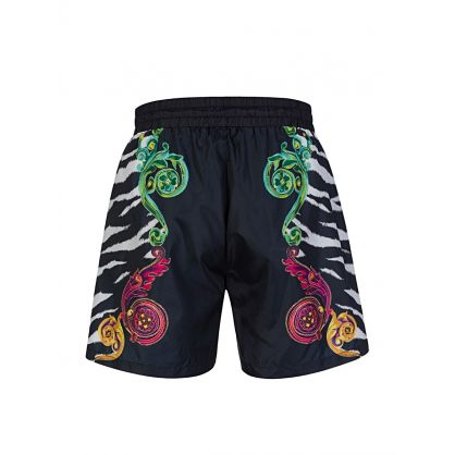 Black Tiger Baroque Swim Shorts