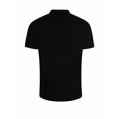 Black Plaque Logo Polo Shirt