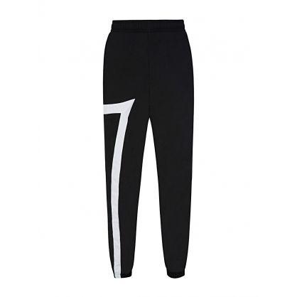 Black Nylon Logo Jogging Sweatpants