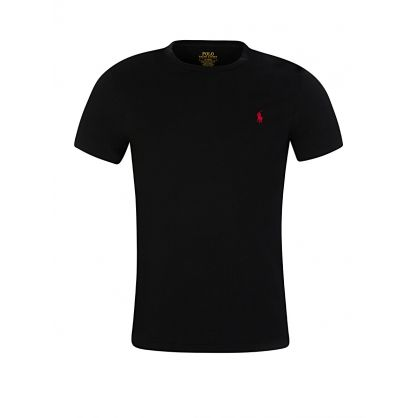 Black Custom Slim Fit Cotton T-Shirt