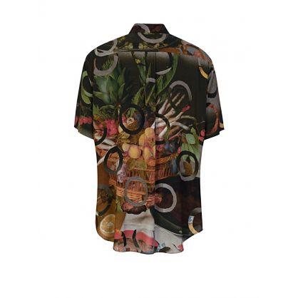 Green Taras Print Shirt