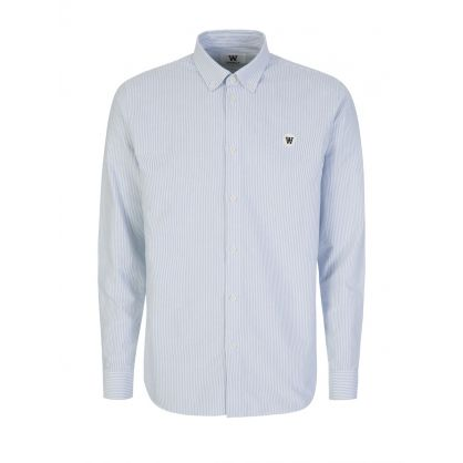 White/Blue Long-Sleeve Ted Shirt