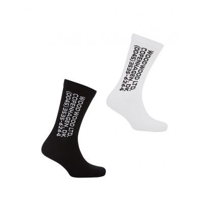 White/Black Gail Socks 2-Pack