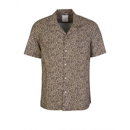 Brown Brandon Allover Pattern Shirt