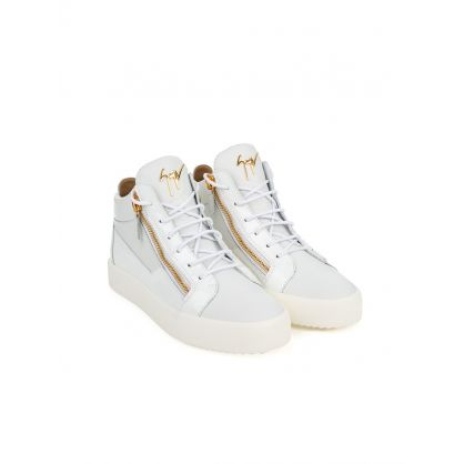 White Mid-Top Kriss Trainers