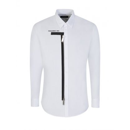 White Shirt with Zip Detailing