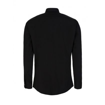 Black Poplin Zipper Shirt