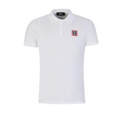 White Patch Logo Polo Shirt