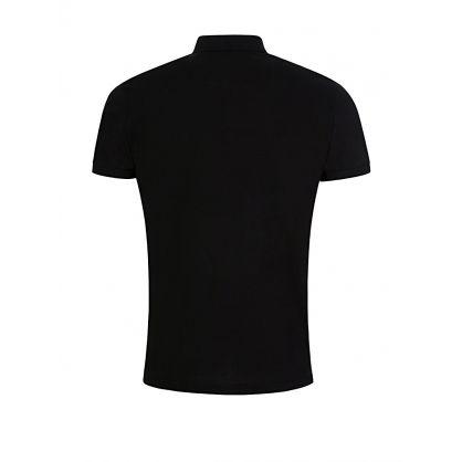 Black Logo Patch Polo Shirt