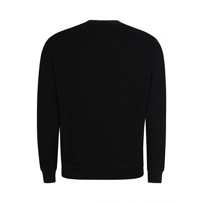 Black Milano Print Sweatshirt