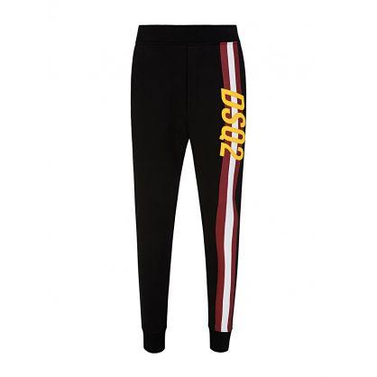Black Racing Stripe Sweatpants