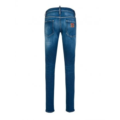 Dsquared Blue Multi Badge Jeans