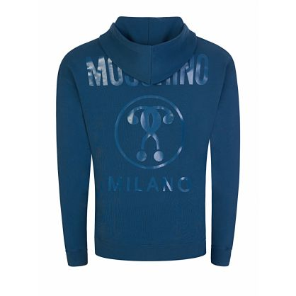Blue Back Milano Logo Hoodie