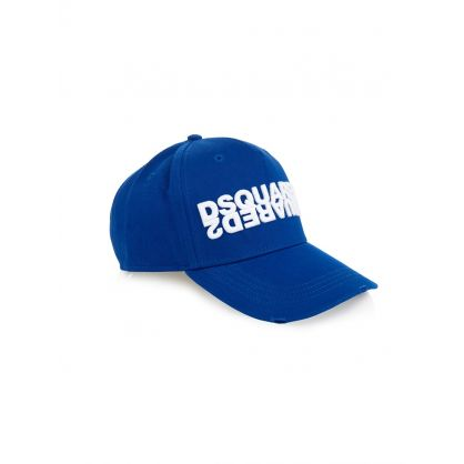 Blue Mirrored Logo Cap