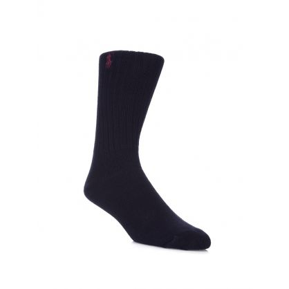 Navy Pony Player Socks