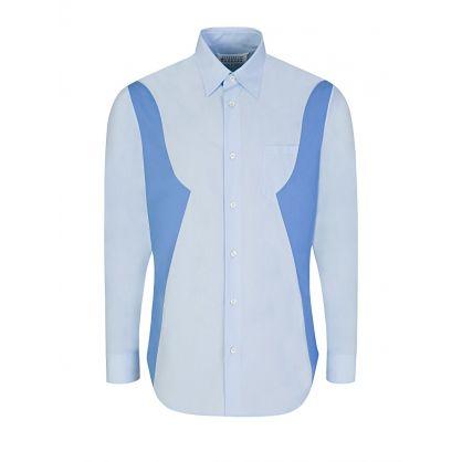 Blue Cotton Poplin Shirt