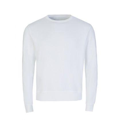 White Elbow Patch Sweatshirt