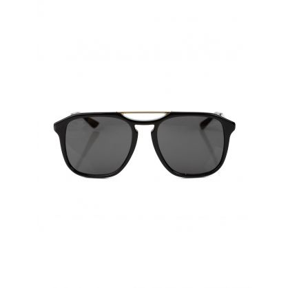 Black & Gold Polarised Sunglasses