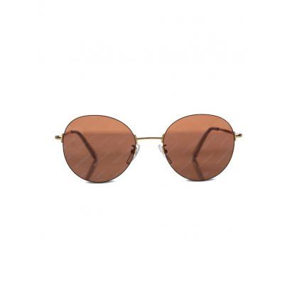 Gold Invisible Banner Sunglasses