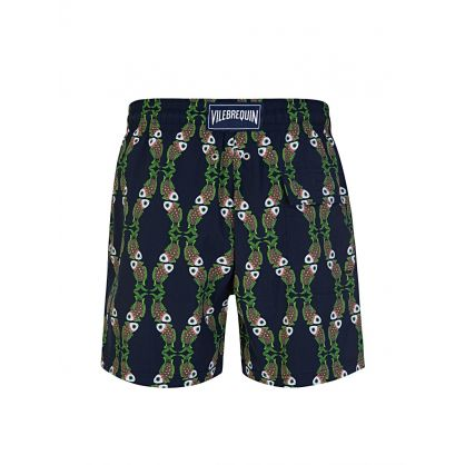 Navy Sweet Fishes Swim Shorts