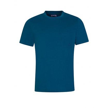 Blue Organic Cotton T-Shirt