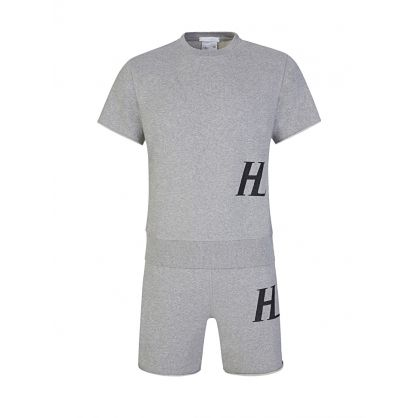 Grey Mascot Sweat T-Shirt