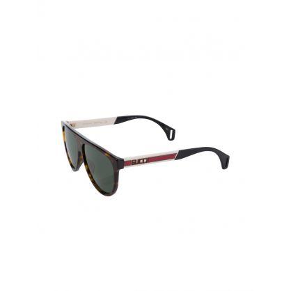 Burgundy Havana Wayfarer Sunglasses