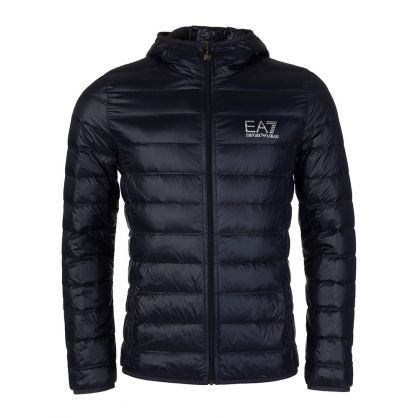 Navy Hoody Puffa Jacket