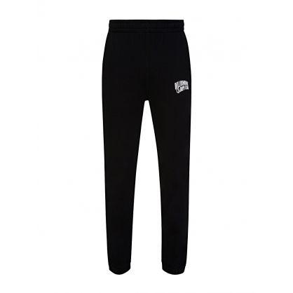 Black Small Arch Logo Print Sweatpants