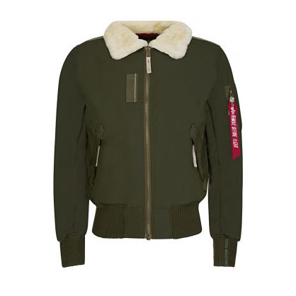 Dark Green Injector III Rep Bomber Jacket