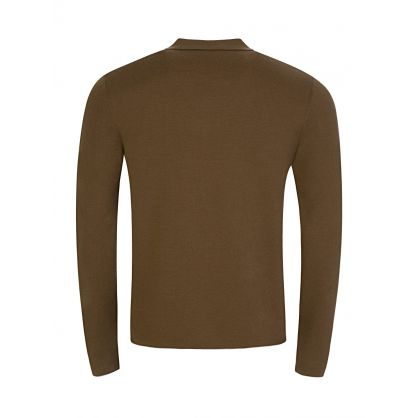 Brown Fine Milano Wool Polo Jumper
