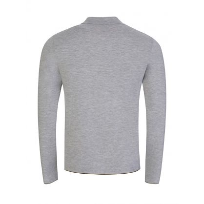 Grey Fine Milano Wool Polo Jumper