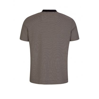Beige Striped Jersey T-Shirt