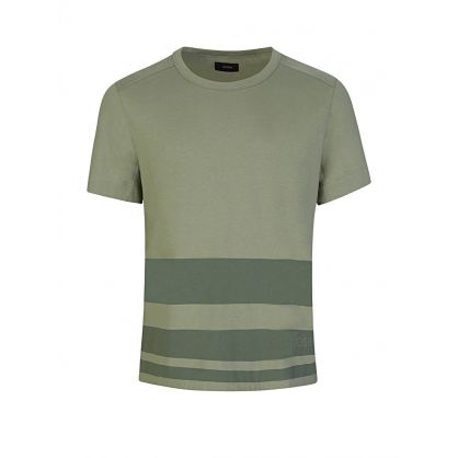 Green Stripe Logo T-Shirt