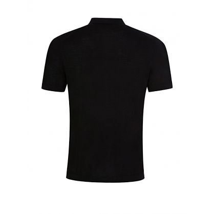 Black Light Merino Knit Polo Shirt
