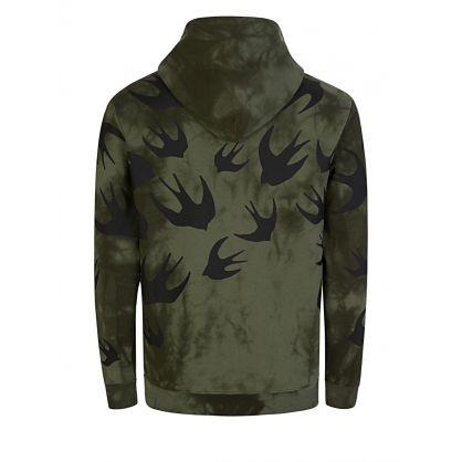 Green Tie-Dye Swallows Hoodie