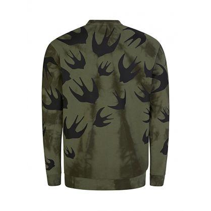 Green Tie-Dye Swallows Sweatshirt