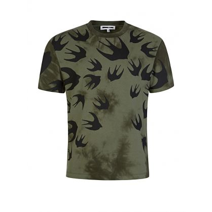 Green Tie-Dye Swallows T-Shirt