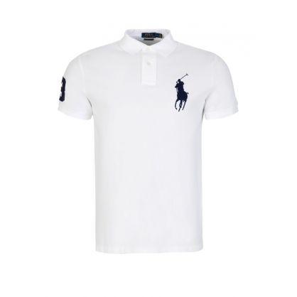 White Custom Slim Fit Polo Shirt