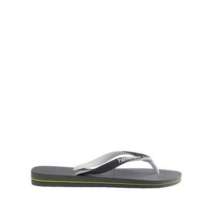Grey Brazil Mix Flip Flops