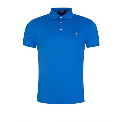 Blue Slim Fit Pima Cotton Polo Shirt