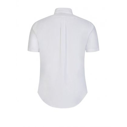 White Slim Fit Oxford Shirt