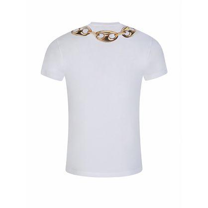 White Chain Print T-Shirt