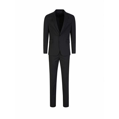 Navy 2-Piece Pinstripe Suit
